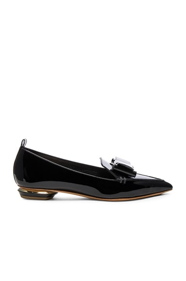 Patent Leather Bow Beya Loafers