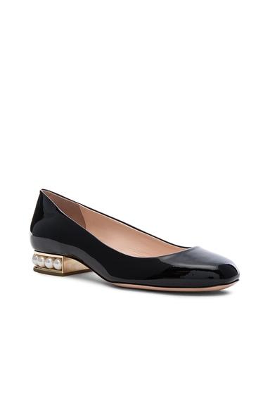 Patent Leather Casati Pearl Ballerina Flats
