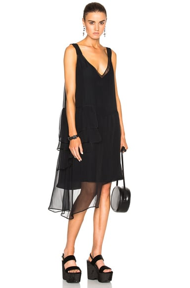 No. 21 Asymmetrical Dress in Black