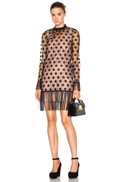 No. 21 Nina Dress in Black & Nude