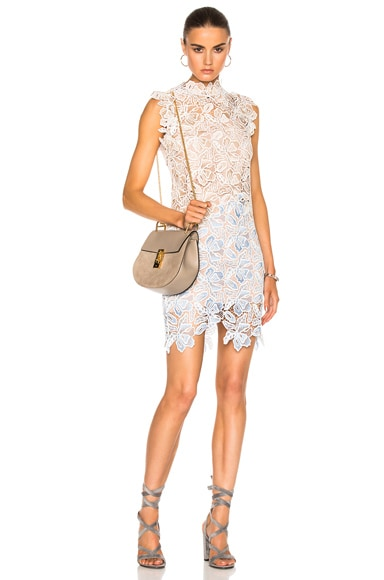 No. 21 Lace Sleeveless Dress in Pattern