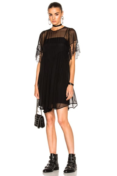 No. 21 Sheer Mini Dress in Black