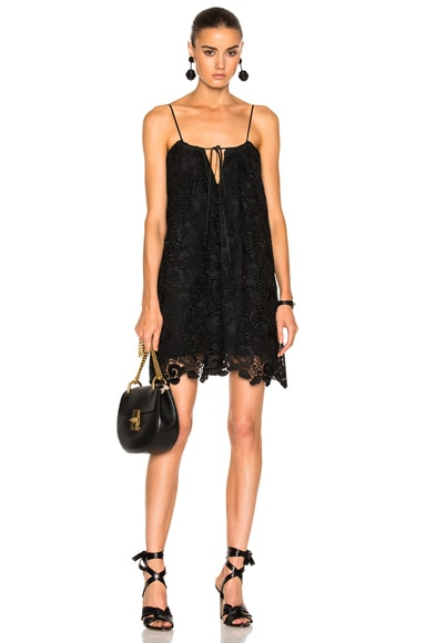 No. 21 Lace Mini Dress in Black