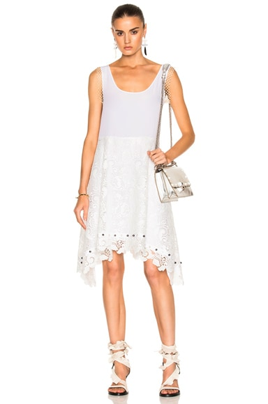 No. 21 Tank Lace Dress in Cream
