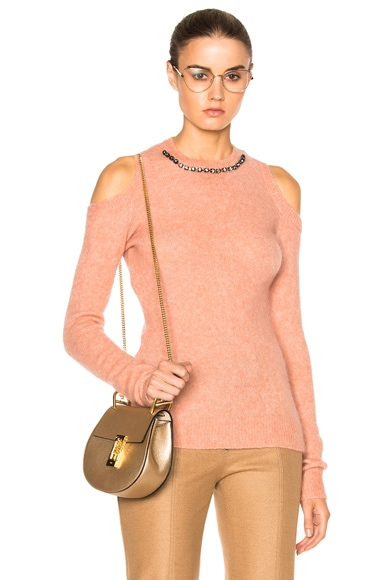 No. 21 Embellished Sweater in Pesca