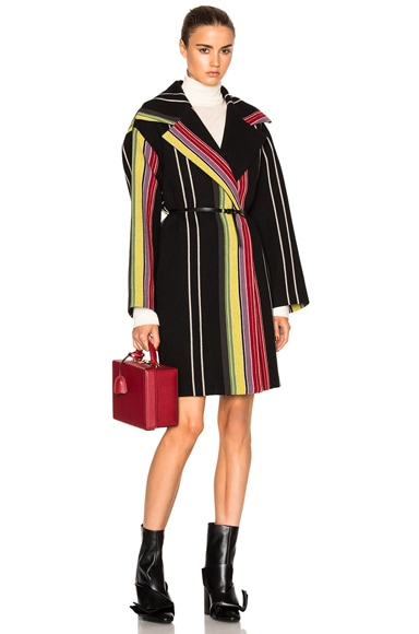 No. 21 Cesira Coat in Multi Stripe