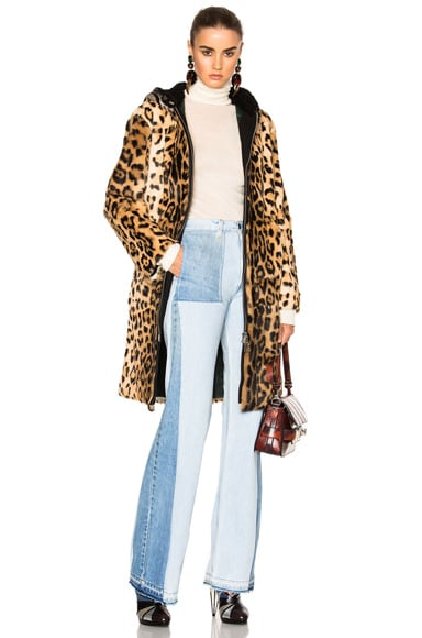 No. 21 Fur Coat in Leopard