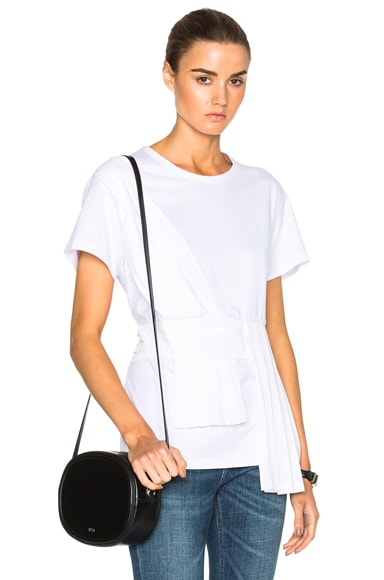No. 21 Pleated Top in White