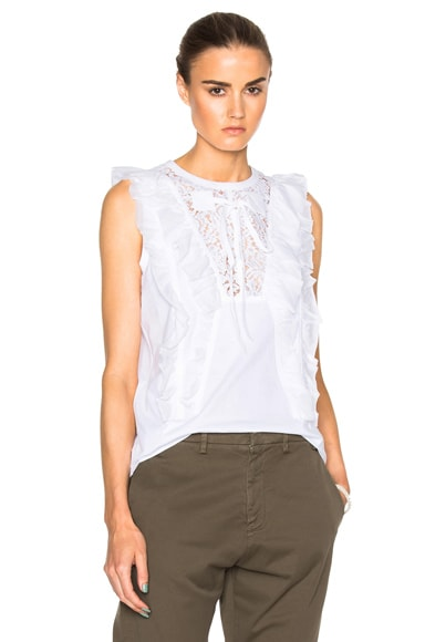 No. 21 Lace Tee in White