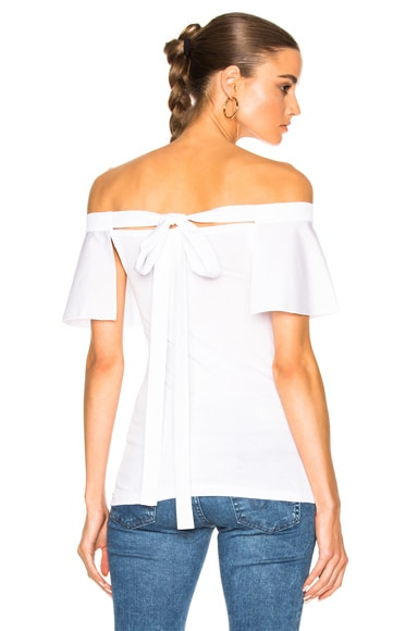 No. 21 Off The Shoulder Tee in White