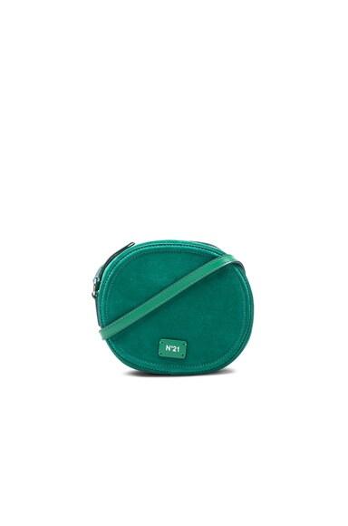 No. 21 Small Round Crossbody Bag in Emerald