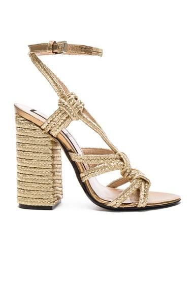 No. 21 Espadrille Heel in Oro
