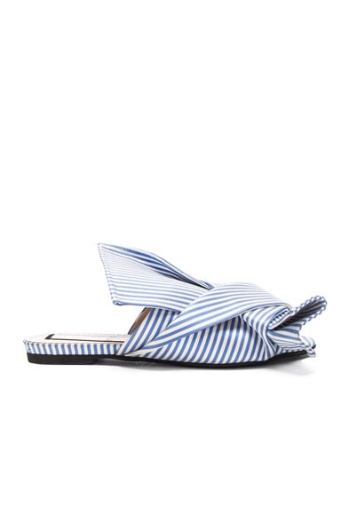 No. 21 Bow Flat in Blue & White Stripe
