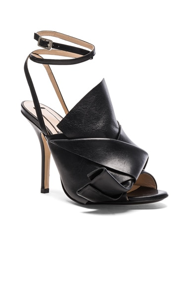 Bow Leather Heels