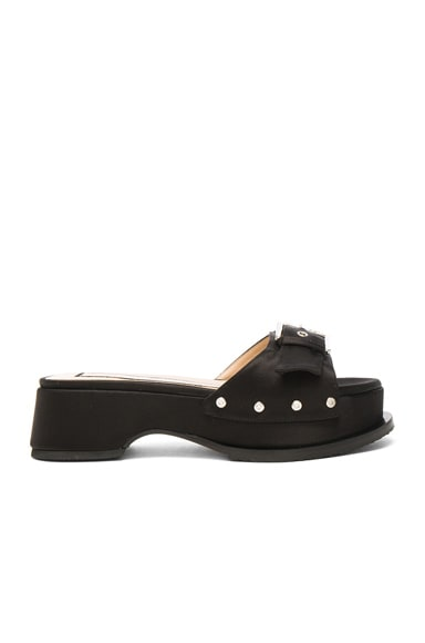 No. 21 Clog in Black Satin