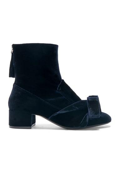 Tie Velvet Boots