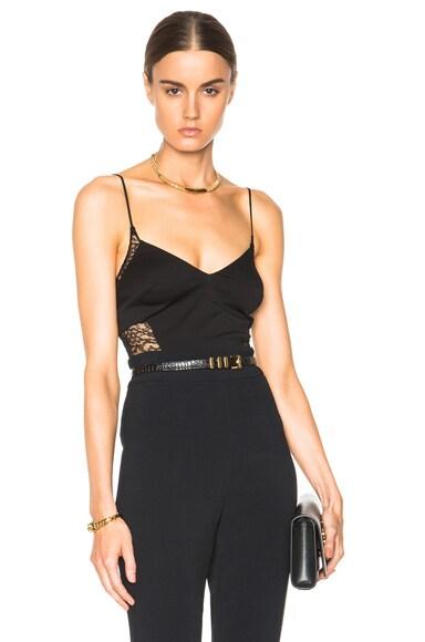 Noam Hanoch Nadia Bodysuit in Black