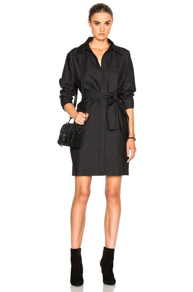 Norma Kamali Midi Box Dress in Black
