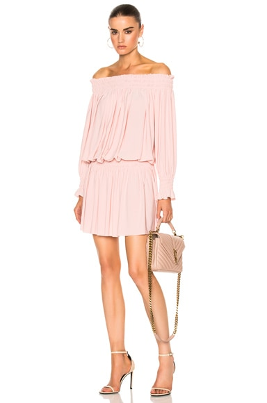 Norma Kamali Peasant Dress in Blush