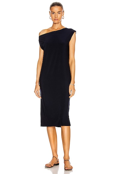 Norma Kamali Drop Shoulder Dress in Midnight