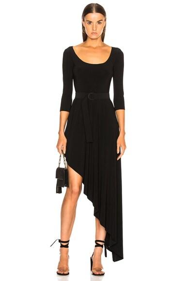 Reversible Diagonal Flared Dress