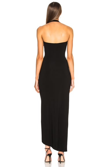 Halter Sweetheart Side Drape Gown