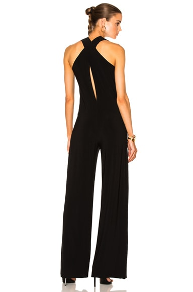 Norma Kamali Racer Jumpsuit in Black