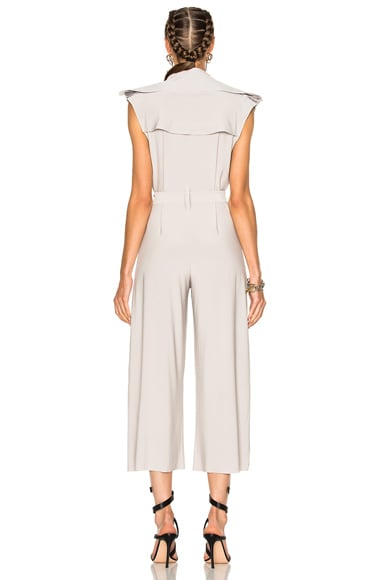 Double Breasted Trench Jumpsuit