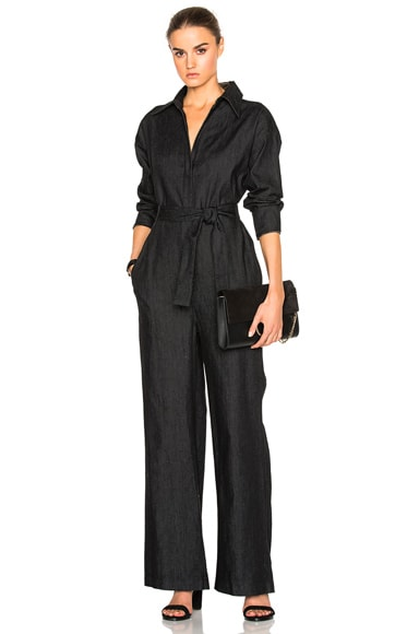 Norma Kamali Box Jumpsuit in Black