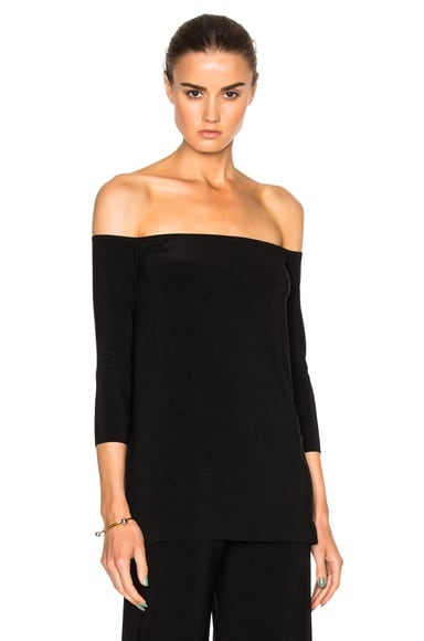 Norma Kamali Off The Shoulder Top in Black