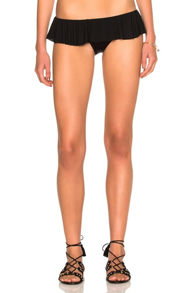 Norma Kamali Ruffled Bikini Bottom in Black