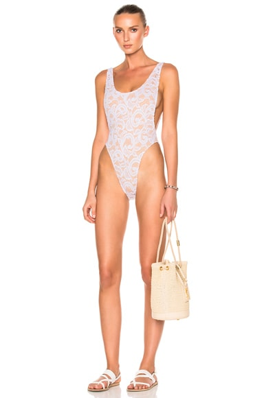 Norma Kamali Marissa Swimsuit in White Lace