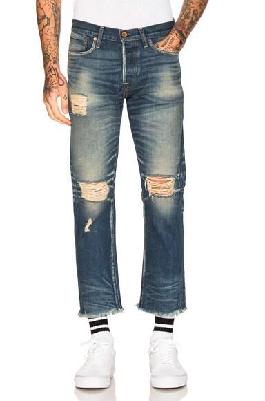 NSF Romi Jeans in Dark Harlan Destroyed