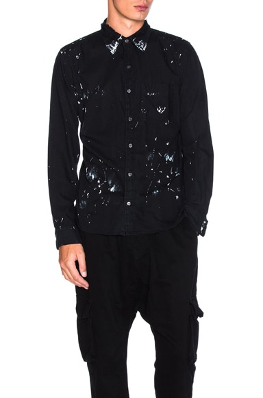 NSF Axel Shirt in Black Paint