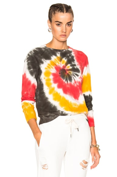 NSF Saguo Long Sleeve Tee in Rasta Spiral