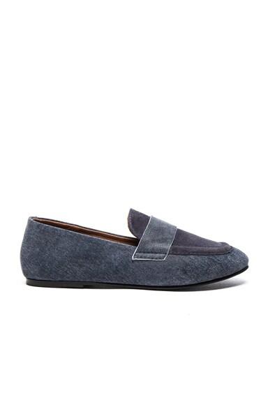 Newbark Claude Suede Loafers in Steel & Safari Blue