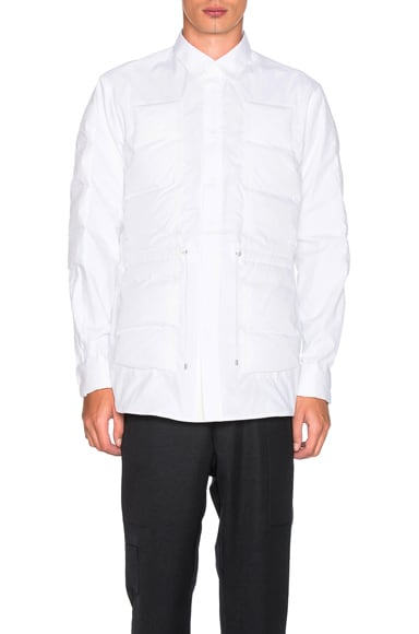 OAMC Down Articulation Shirt in White