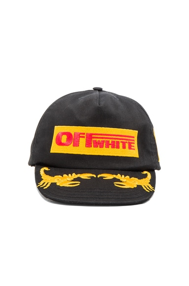 OFF-WHITE Off 1st Cap in Black & Multicolor