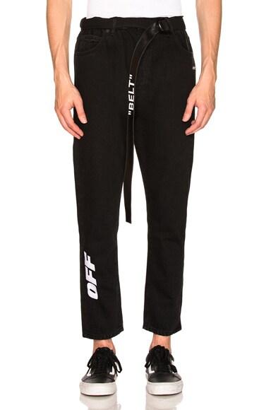 Slim Low Crotch Jeans