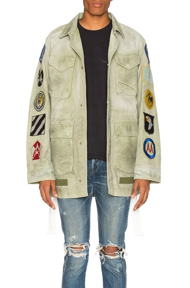 OFF-WHITE Patches Field Jacket in Military Green