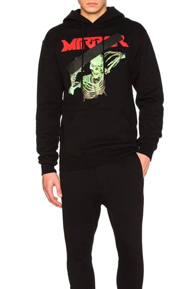 OFF-WHITE Mirror Skull Hoody in Black & Multi