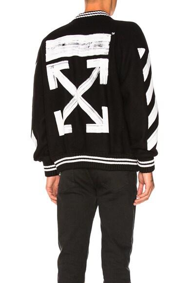 Diag Brushed Varsity Jacket