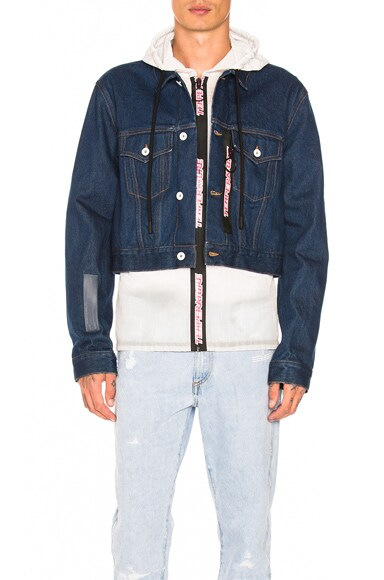 No Wash Cropped Hooded Jacket