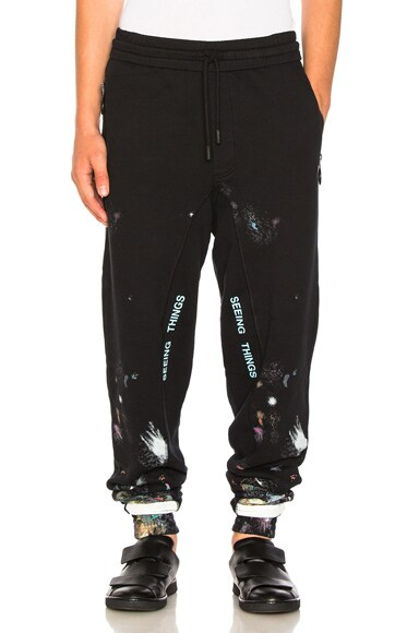 Diagonal Galaxy Brushed Sweatpants