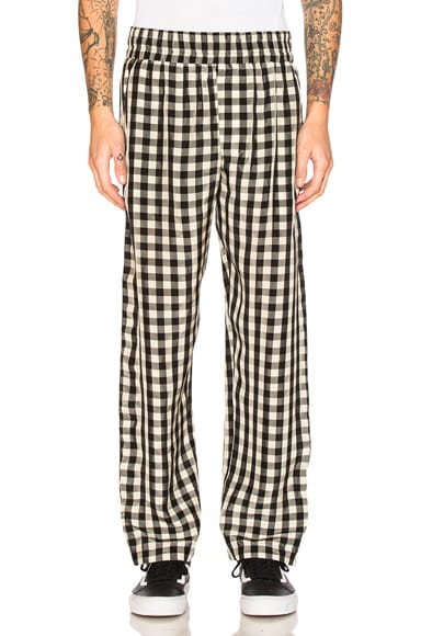 OFF-WHITE Pajama Pant in Check All Over Multicolor