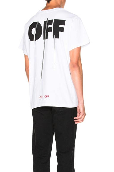 OFF-WHITE Silver Off Tee in White Multi