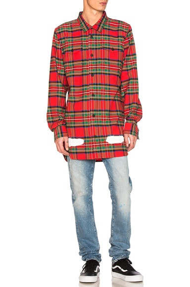 Diagonal Spray Check Shirt