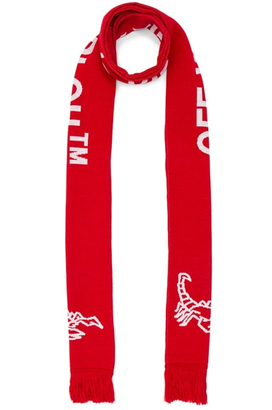 OFF-WHITE Scorpion Big Scarf in Red & White