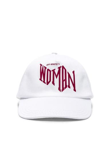 OFF-WHITE Woman Baseball Cap in White & Bordeaux