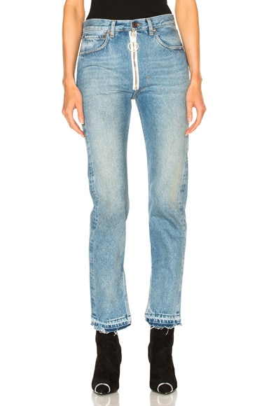 Split Baggy 5 Pocket Jeans